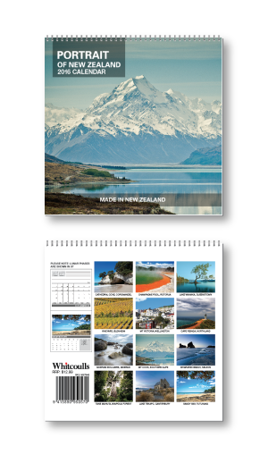 A tent style calendar -iamges of nz scenes